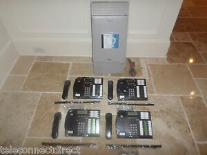 Nortel Norstar Mics Office Phone System Meridian 4 T7316 Phones Like New