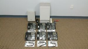 Nortel Mics Office Phone System Package 6 M7310 4 Lines Caller Id Voicemail