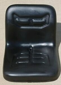 Compact Tractor Flip Seat W Brackets For Ford 1510 1710 1910 Black Vinyl