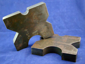 pair 8 5x10 Arbor Plates 1 75 Thick Hydraulic H frame Shop Press V cut