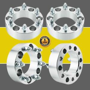 4x 2 6lug Wheel Spacers 6x5 5 For Chevy Adapters Silverado 1500 Tahoe Suburban