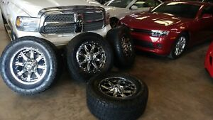 Fuel Nutz Pvd Chrome 20 20x9 With All terrain Nitto Lt325 60r20 Great Condition