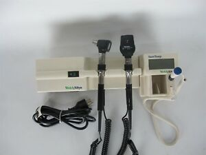 Welch Allyn 767 Transformer Otoscope Opthalmoscope Suretemp Thermometer W mount