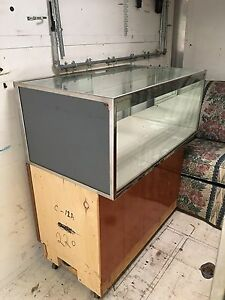 Retail Glass Display Showcase Cases On Wheels Great For Flea Markets Used