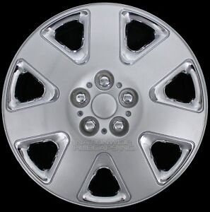 15 Set Of Chrome Silver Wheel Covers Snap On Hub Caps Fit R15 Tire