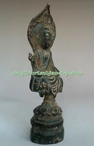 Collectables Dynasty Old Chinese Bronze Buddha Statue 119mm