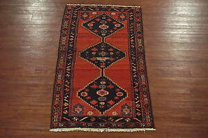 Antique Persian Karaje 3x6 Wool Hand Knotted Oriental Area Rug Carpet Wool