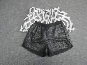 Sweet Pea By Stacy Frati Sam Edelman Black White Lot Of 2 Shorts Sz S Ee4140
