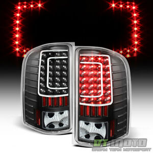 Black 2007 2013 Chevy Silverado 1500 c Shape Led Tail Lights Lamps Left right