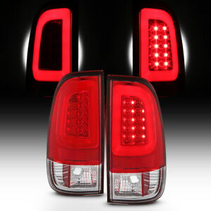 New Red 1997 2003 Ford F150 99 07 F250 F350 Superduty Led Tube Tail Lights Lamps