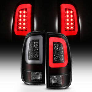 New Black Smoke 2008 2016 Ford F250 F350 F450 F550 Sd Led Tube Tail Lights Lamps