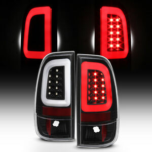 New Blk 1997 2003 Ford F150 99 07 F250 F350 Superduty Led Tube Tail Lights Lamps