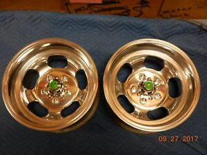 Just Polished 14x8 Slot Mag Wheels Ford Dodge Mags Mopar Plymouth Mustang Comet