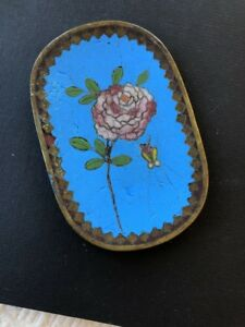 Small Antique Chinese Cloisonn Plate