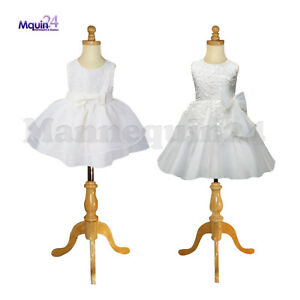 2 Child Mannequin Set Size 1 2 Yr 3 4 Yr Wooden Bases Kids Dress Forms
