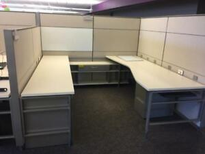 Used Office Cubicles Herman Miller Canvas 8x8 Cubicles