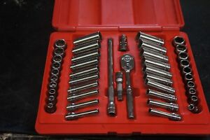 Snap On 44 Piece 1 4 Drive Service Set Sae Metric Shallow Deep With Case