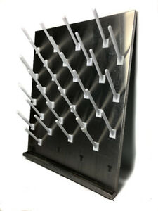 Stainless Pegboard Bottel Drying Rack Inter Dyne 24 x 30 V2430 32 Pegs
