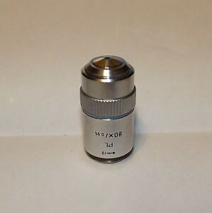 Leitz Microscope Objective Plan Pl 80x 0 95 0 Suitable For Fluorescence