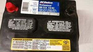 Ac delco Professional Series Battery 85ps 88865254 590cca 110rc