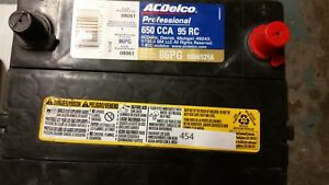 Ac delco Professional Series Battery 86pg 88865256 650cca 95rc