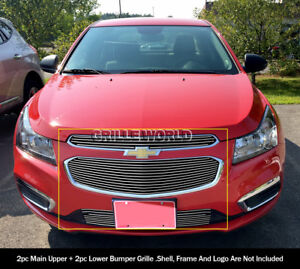 For 2015 Chevy Cruze Upper And Lower Billet Grille Combo