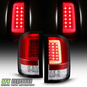 Red 2007 2013 Chevy Silverado 1500 2500hd Led Tube Tail Lights Lamps Left right