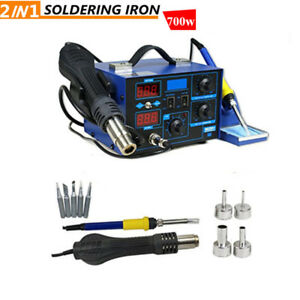 862d 700w 2in1 Smd Soldering Iron Hot Air Rework Station Desoldering Repair Set