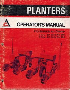 Allis Chalmers 770 Planters Operator s Manual