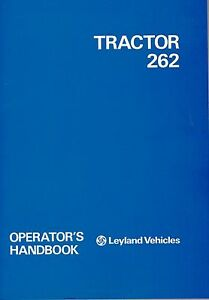 Leyland 262 Tractor Operator s Manuals Akd 7416 english