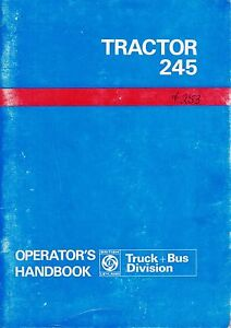 Leyland 245 Tractor Operator s Manual Akd 8058 english