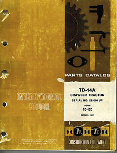 International Vintage Td 14a Crawler Tractor Parts Manual Tc 42c Xxxx