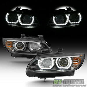 Hid xenon 2007 2010 Bmw E92 E93 328i 335i Coupe F32 Style Led 3d Halo Headlights