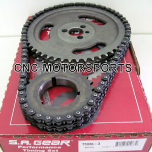 Sa Gear 73036 3 Double Roller Timing Chain Set Bbc Bb Chevy 396 427 454