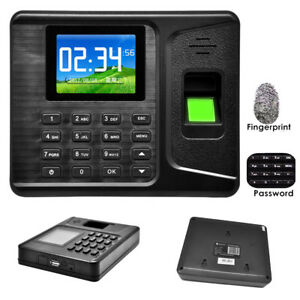 2 8 biometric Fingerprint Password Attendance System Check in Time Clock Machine