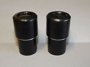 A Pair Of 23mm Ao American Optical Microscope Eyepieces 10x Wide Field Cat 145