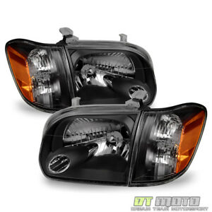 For Blk 2005 2006 Toyota Tundra 2007 Sequoia Headlights Corner Lamps Left right