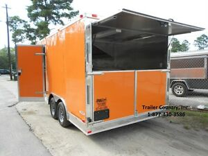 New 8 5x16 8 5 X 16 Enclosed Concession Food Vending Bbq Trailer New 2018