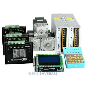 Revolutionary 5a Tb6600hg Stepper Controller Cnc Kit 3 Axis Nema24 3