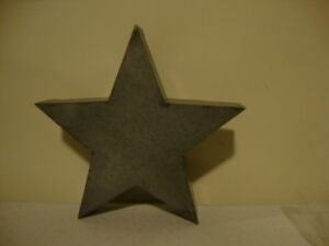 Country New Small Aged Tin Decor Star Nice