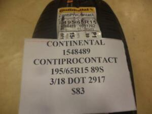 Continental Contiprocontact 195 65 15 89s Brand New Tire 1548489 Q8