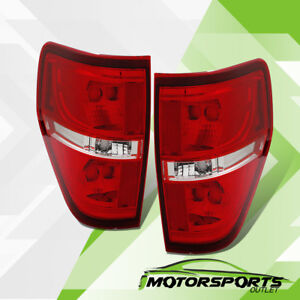 2009 2014 Ford F 150 Red Clear Rear Brake Tail Lights Pair 2010 2011 2012 2013