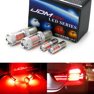 Red H21w 7506 Led Bulb Combo For Bmw F32 F82 4 Series Turn Signal Brake Lights