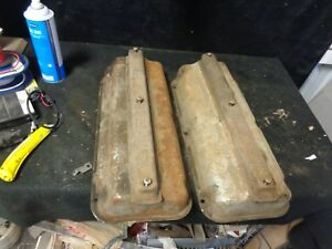 56 57 Desoto Hemi 330 341 345 Valve Covers With Plug Wire Covers Firedome
