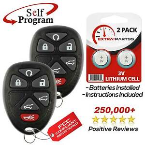 2 For 2007 2008 2009 2010 2011 2012 2013 2014 Chevrolet Tahoe Remote Key Fob Fits Tahoe