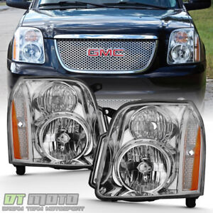 2007 2014 Gmc Yukon Denali Xl1500 2500 Headlights Headlamps Left Right 07 14