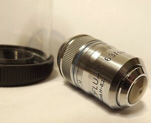 Zeiss Plan Neofluar 63x Microscope Objective Lens With Correction Collar 160mm