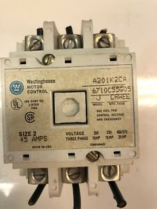 Westinghouse Size 2 Motor Starter A201k2ca 120 Volt Coil 45amp free Shipping