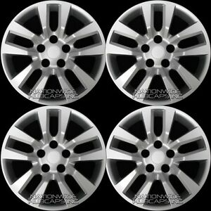 4 New 16 Wheel Covers For Nissan Altima 2002 2018 Snap On Full Rim Hub Caps R16