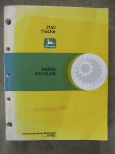 John Deere 3150 Tractor Parts Catalog Manual